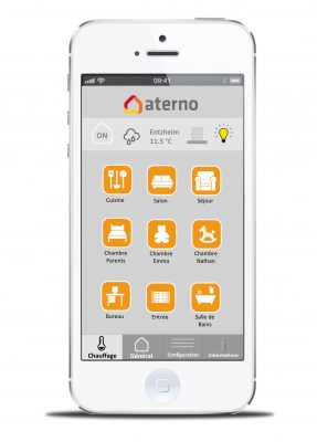 application smartphone aterno