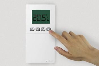 Eco-Logic - thermostat sans fil programmable pour le radiateur à inertie Aterno